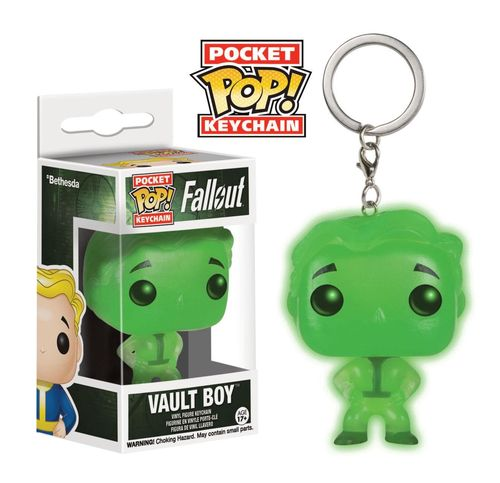 Vault Boy - Glow in the Dark (Pop! Pocket Keychain: Fallout) (Neu)