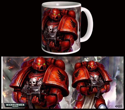 Warhammer 40K Tasse: Blood Angels Space Marines (300 ml) (Neu)