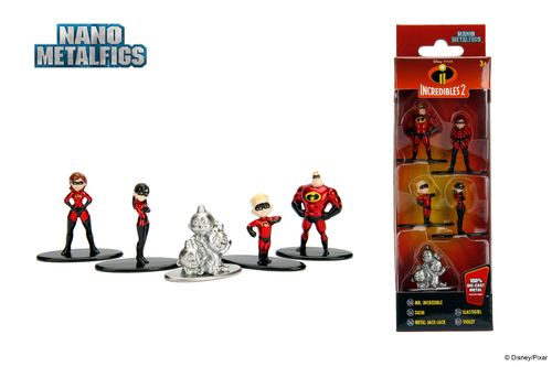 Disney Nano Metalfigs Diecast Minifiguren 5-er Pack Incredibles 2 (ca. 4 cm) (Neu)