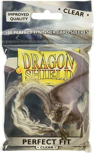 Dragon Shield Standard Perfect Fit Sleeves - Clear/Clear (100 Sleeves) (Neu)
