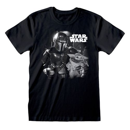 Star Wars The Mandalorian T-Shirt: BW Photo - Gr. XL (Neu)