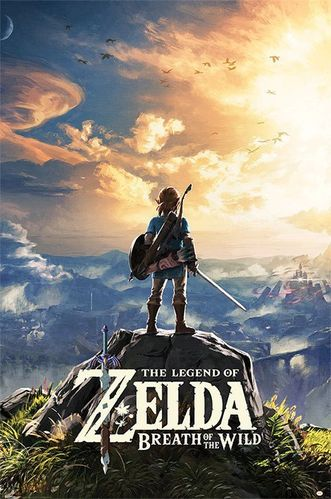Legend of Zelda Breath of the Wild Poster Sunset 61 x 91 cm