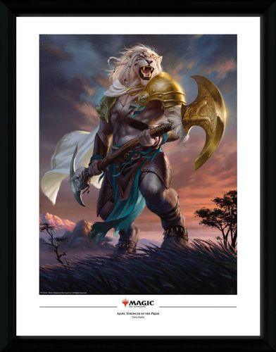 Magic the Gathering - Poster im Rahmen: Ajani, Strength of the Pride