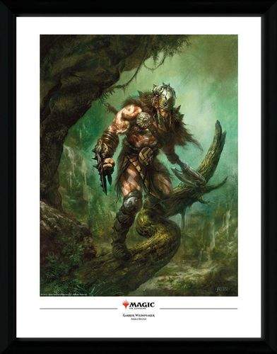Magic the Gathering - Poster im Rahmen: Garruk Wildspeaker