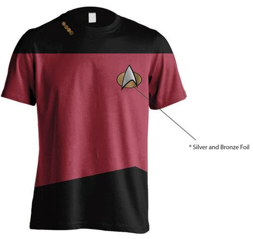 Star Trek T-Shirt Uniform: Red - Gr. M