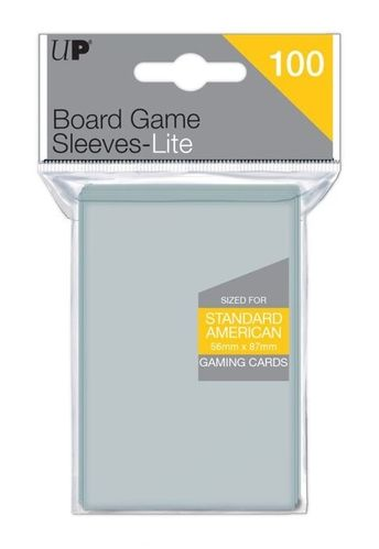 UP Lite Standard American Board Game Sleeves 56x87 mm (100 Sleeves)